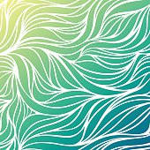 Vector color wave sea background. Blue abstract ocean texture.