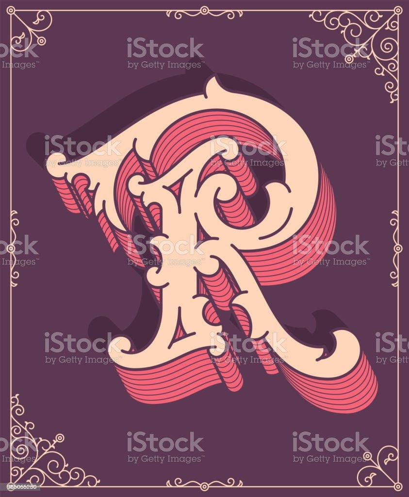 Vector colored letter R vector colored letter r - stockowe grafiki wektorowe i więcej obrazów abstrakcja royalty-free