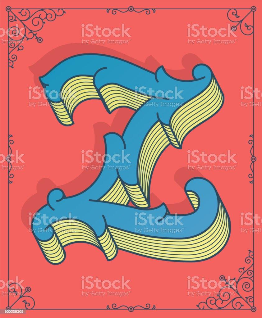 Vector colored letter Z vector colored letter z - stockowe grafiki wektorowe i więcej obrazów abstrakcja royalty-free