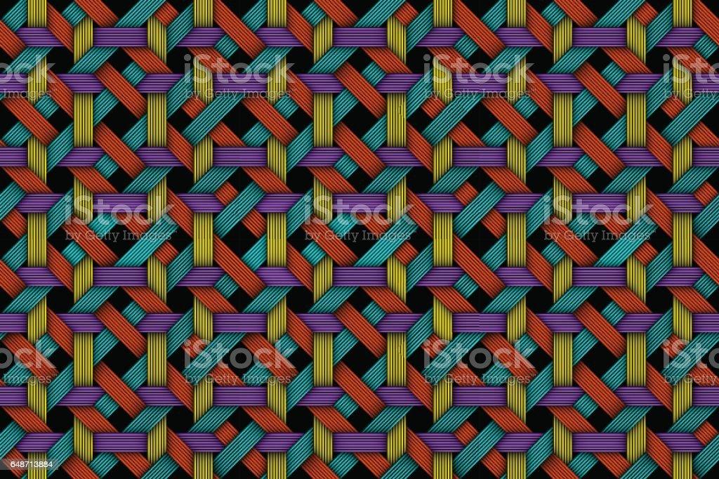 Vector colored matting fiber seamless pattern vector art illustration