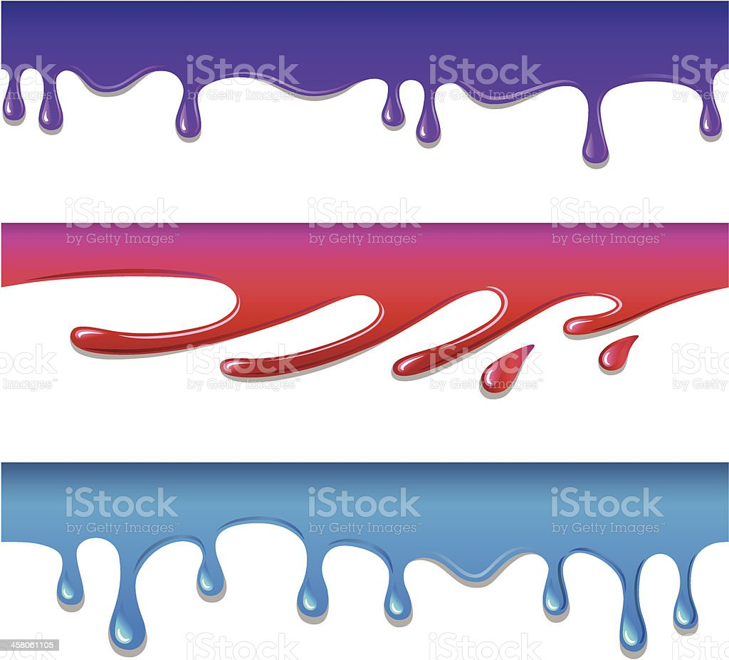 Vector colored seamless drips and blots royalty-free vector colored seamless drips and blots stock vector art & more images of blob
