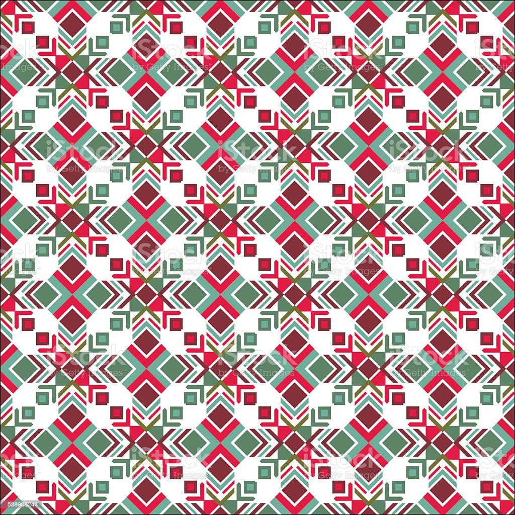 Christmas Texture.Vector Colored Seamless Texture Indian Motif Christmas Texture Stock Illustration Download Image Now