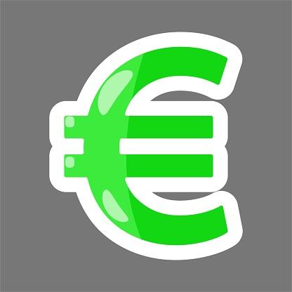 Farbige Aufkleber Vektorbild Des Euro Setzen Sie Zeichen Vektorillustrationeuro Stock Vektor Art Und Mehr Bilder Von Aufkleber