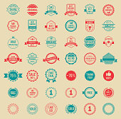 Vector Colored Vintage Badges and Labels