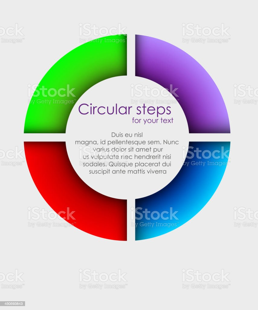 Vector colorful arrows circle royalty-free stock vector art