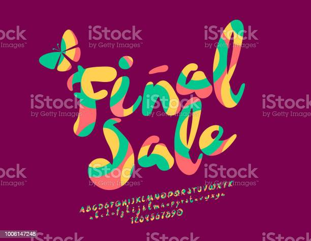 Vector colorful banner final sale with handwritten font vector id1006147248?b=1&k=6&m=1006147248&s=612x612&h=r3fsv50mo 7g4e0kulx11bikqzcpi dj9yehn7viele=