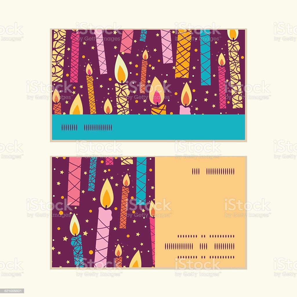 Vecteur Colores Anniversaire Bougies Motif Rayures Horizontales De Cartes Visite