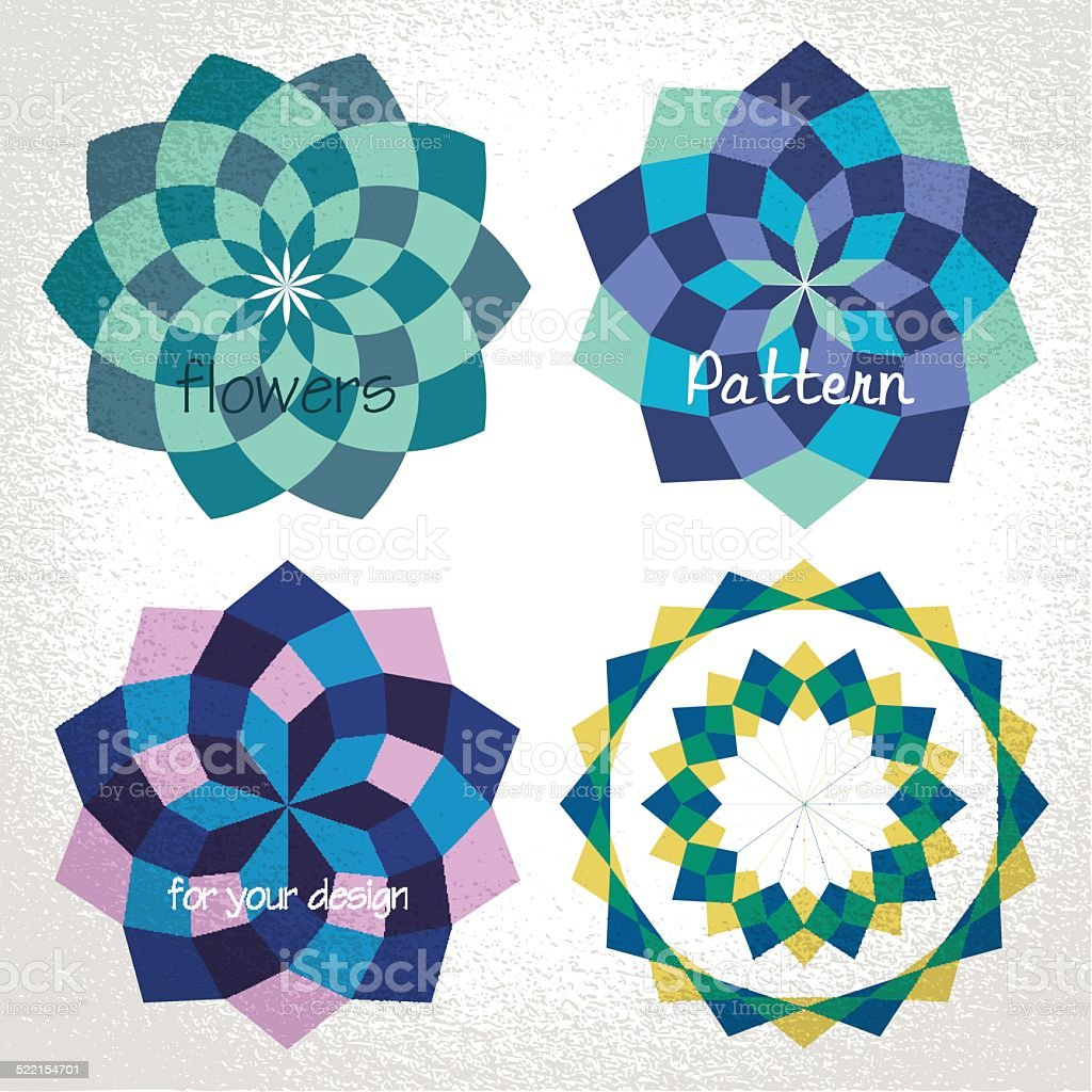 Vector: colorful checkered circle frame background vector art illustration