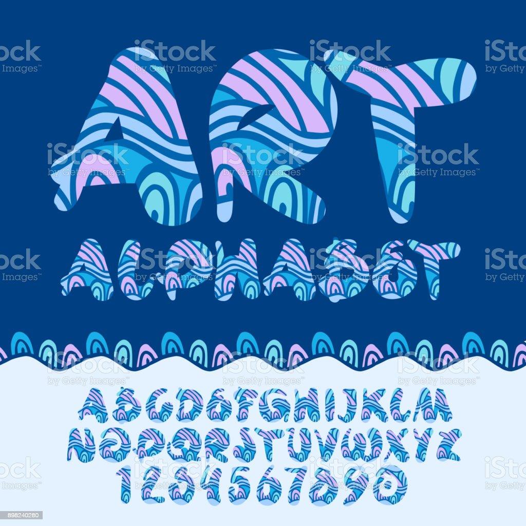 Vector patrón de niños colores de arte Alphabet - ilustración de arte vectorial