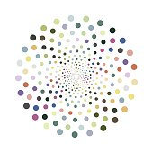 Vector colorful shape. Creative design element for your ideas.