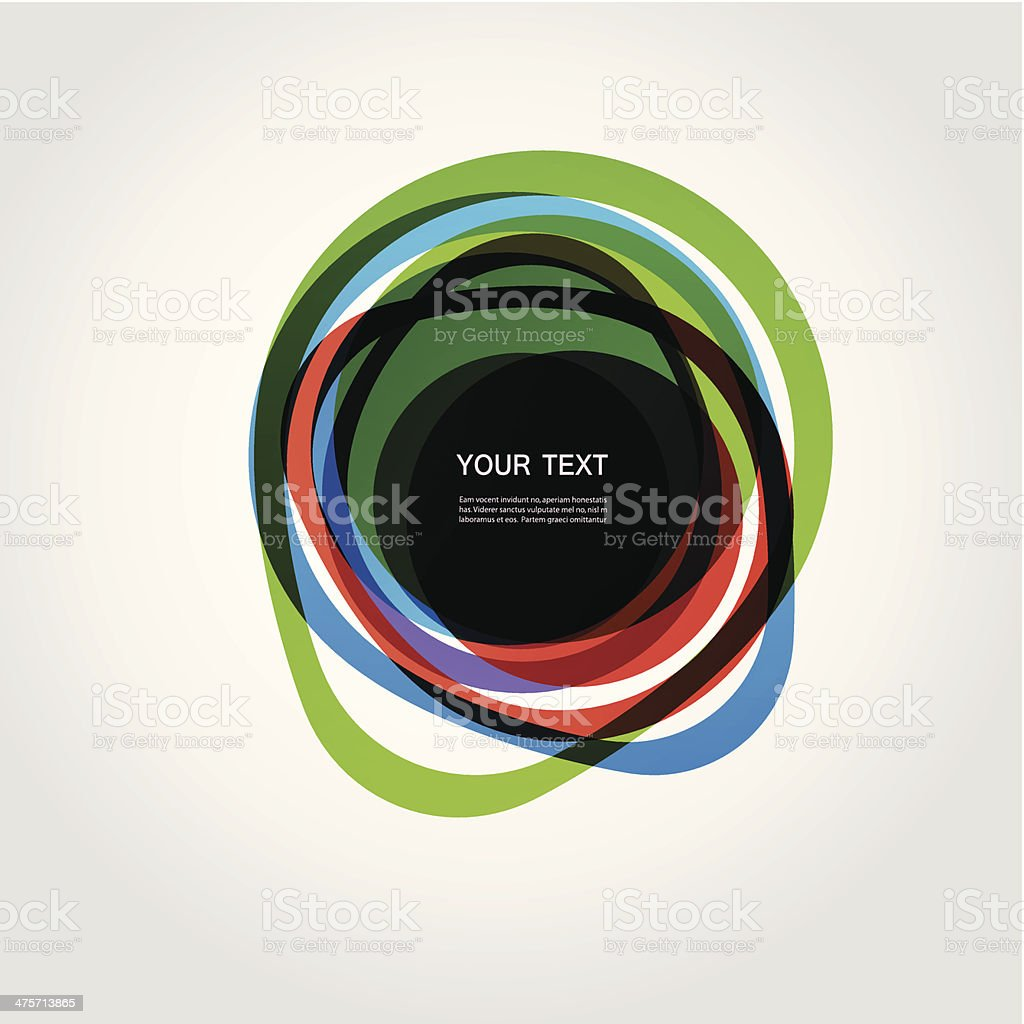 vector colorful circles tape vector art illustration