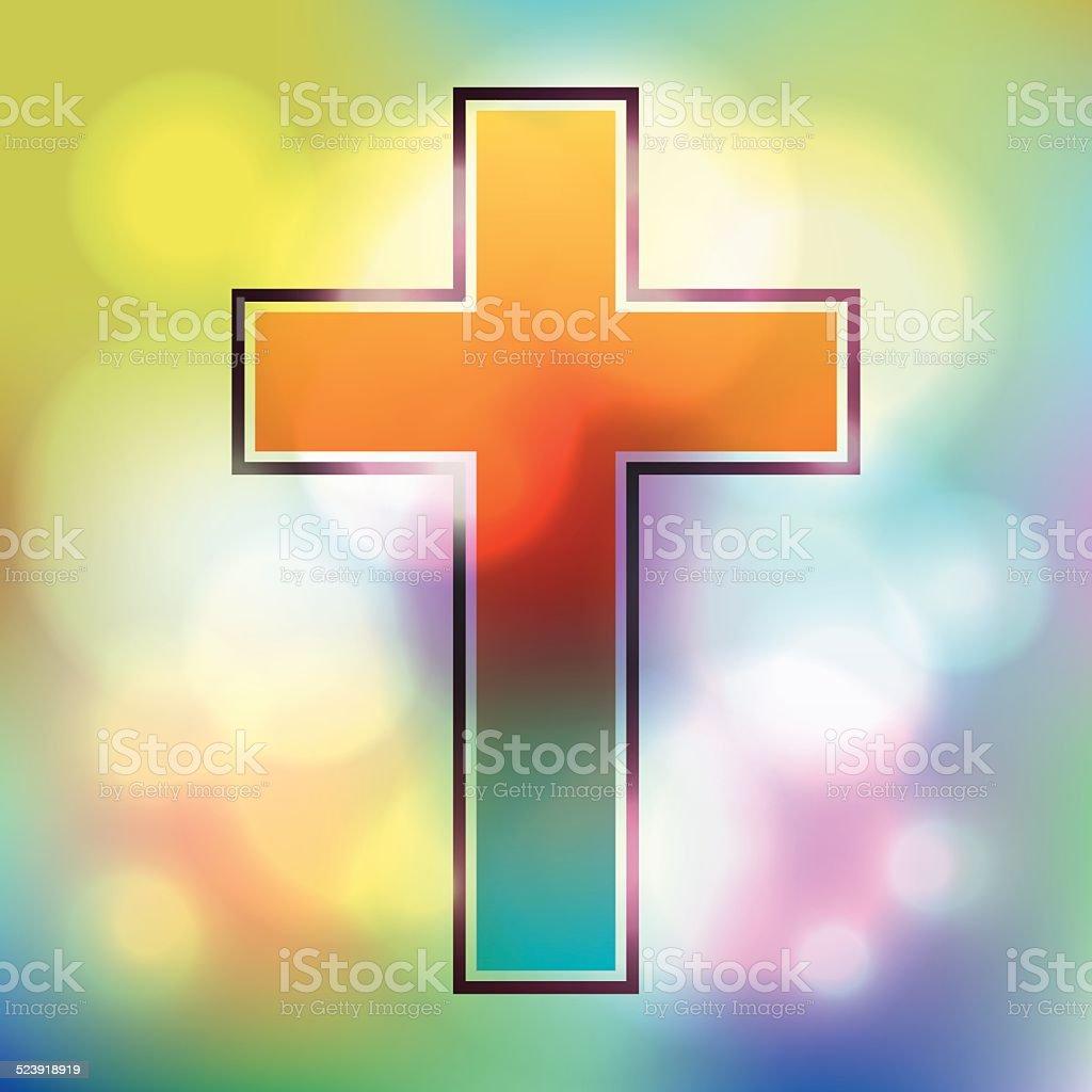 Vector Colorful Cross Illustration vector art illustration