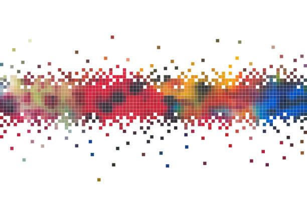 ilustraciones, imágenes clip art, dibujos animados e iconos de stock de vector fondos digitales - fondos mosaicos