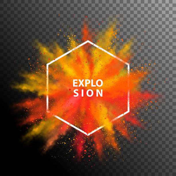 stockillustraties, clipart, cartoons en iconen met vector kleurrijke explosie - springen