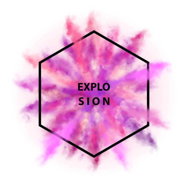 stockillustraties, clipart, cartoons en iconen met vector kleurrijke explosie - talk