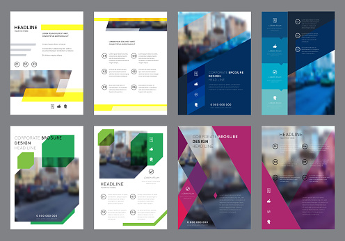 Vector Colorful Flyers Design Template