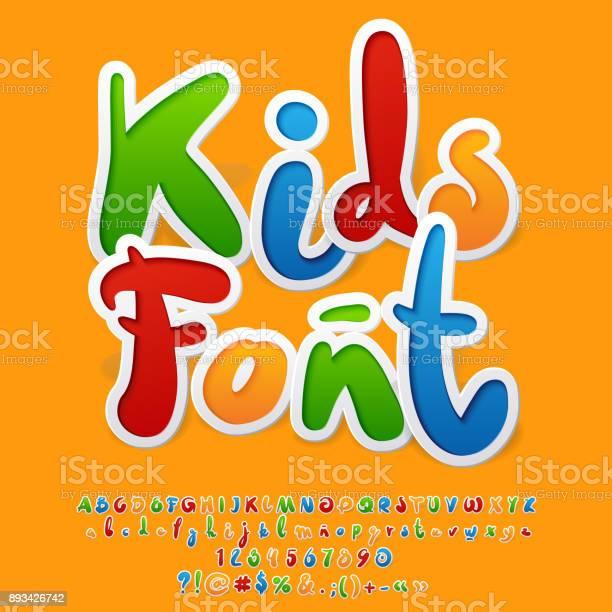 Vector colorful funny unusual kids font vector id893426742?b=1&k=6&m=893426742&s=612x612&h=6 f2hy9iy3jbaqgcrcp8n sxdzyczwqnycrpy3hwvfo=