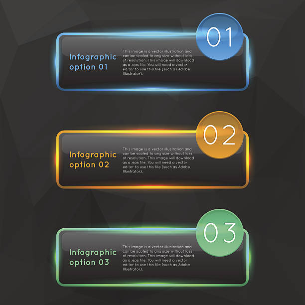 Vector colorful glowing glass infographics. vector art illustration