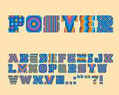 Vector Colorful Graphic Alphabet Set - Vector