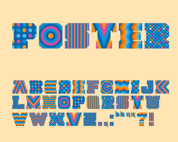 Vector colorido gráfico alfabeto conjunto-Vector - ilustración de arte vectorial