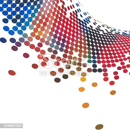 istock Vector colorful half tone dots fluidity pattern,Abstract Backgrounds 1346902052