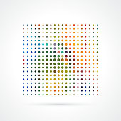 Vector Colorful Halftone Dots