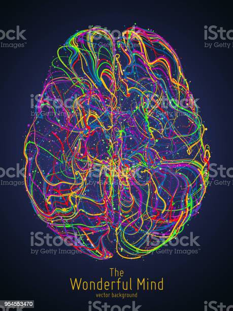 Vector colorful illustration of human brain with synapses conceptual vector id954553470?b=1&k=6&m=954553470&s=612x612&h=ktofgztz lovivqtfhfqu84sdmiqylhfkrqqhxmotr4=