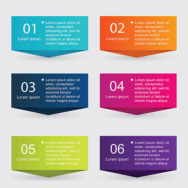 vector colorful info graphics for your business presentations. - boxes stock illustrations, clip art, cartoons, & icons
