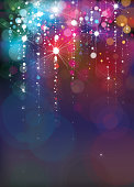Vector colorful lights background for holiday design.