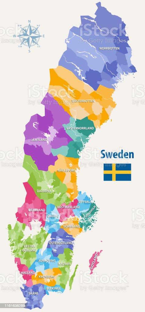 kommuner i sverige karta