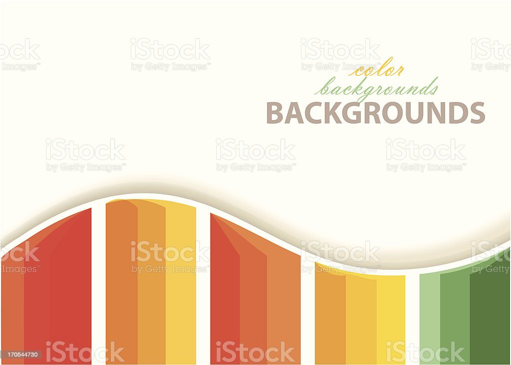 Vector colorful paper background royalty-free stock vector art
