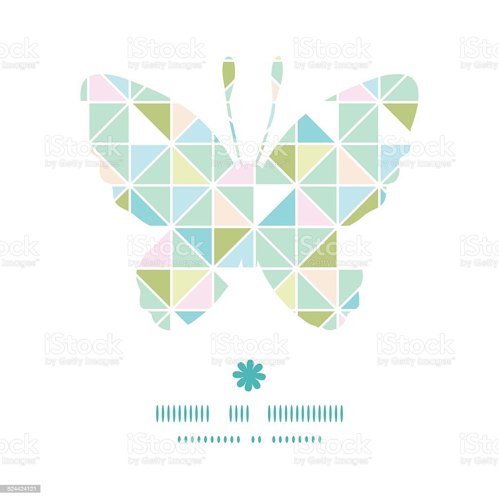 Vektorbunte Pastellfarben Triangle Textur Schmetterling Silhouette ...