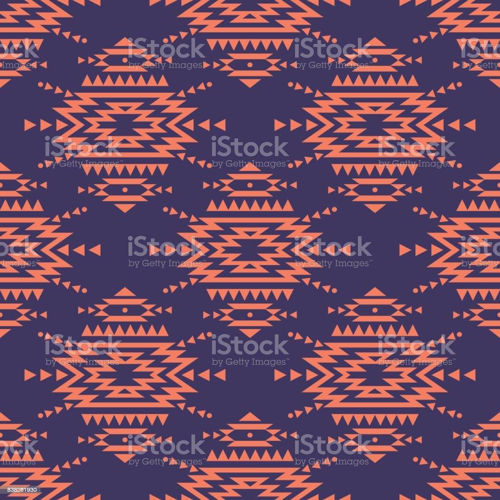 Vector kleurrijke naadloze decoratieve etnische patroon. Indiaanse motieven. Achtergrond met Azteekse tribal sieraad. Romantische boho stijl.vectorkunst illustratie