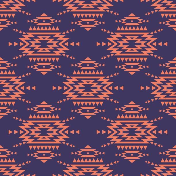 vektor bunte dekorative ethnischen musterdesign. indianische motive. hintergrund mit aztec tribal ornament. romantischen boho-stil. - boho stock-grafiken, -clipart, -cartoons und -symbole