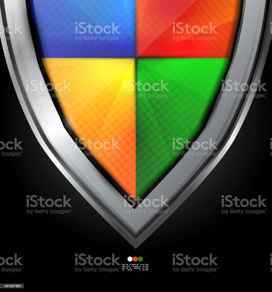 Vector colorful shield background royalty-free stock vector art