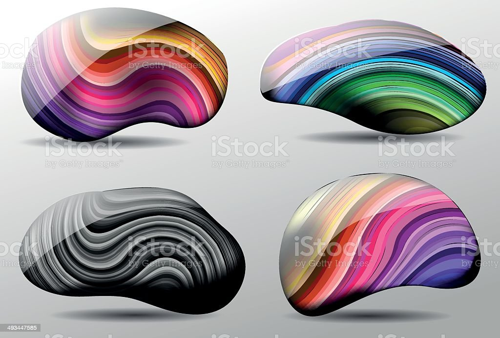 Vector colorful Stones royalty-free stock vector art