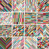 Vector colorful stripes pattern backgrounds collection