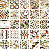 Vector colorful stripes seamless pattern collection