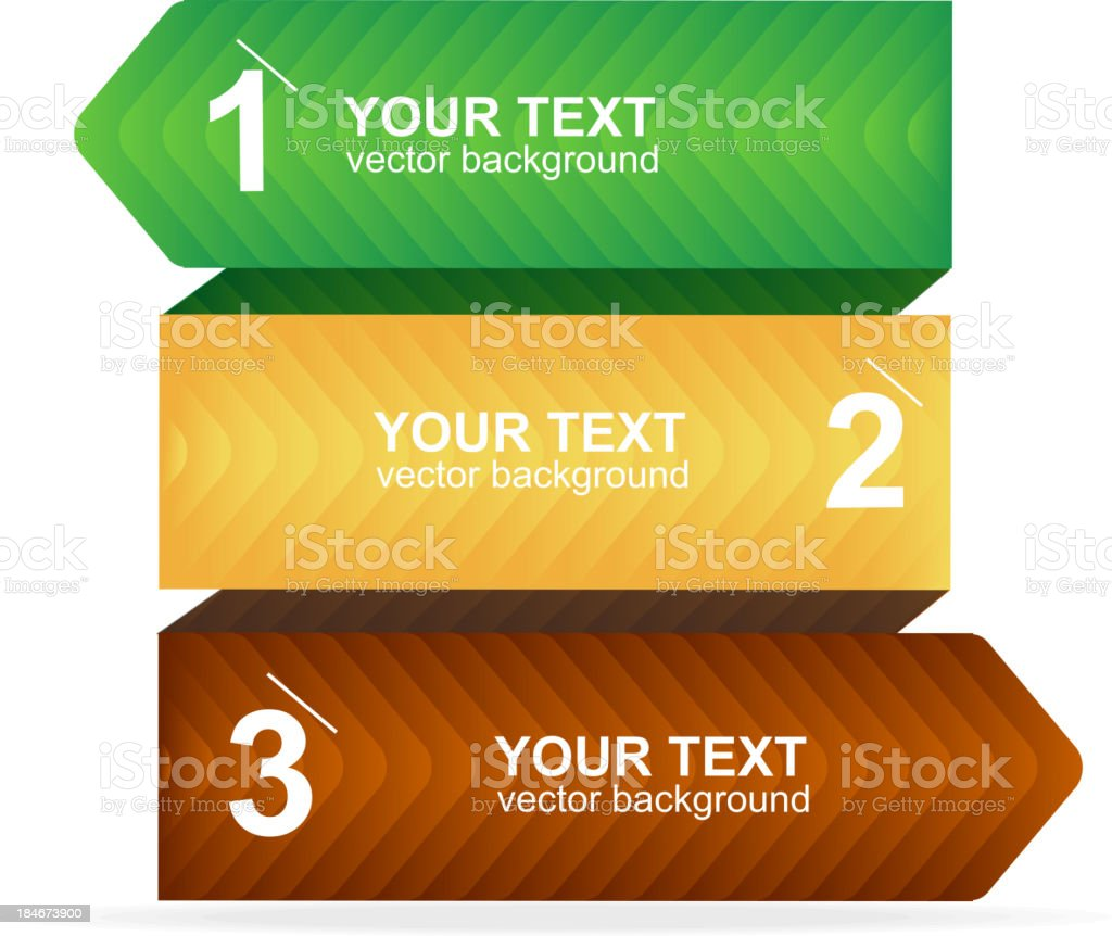 Vector colorful text box 1,2,3 concept royalty-free stock vector art