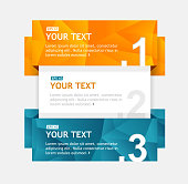 Vector colorful text boxes, infographics options banner 1 2 3