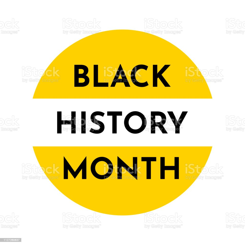 Vector colorful yellow illustration with round background. Black history month. vector art illustration