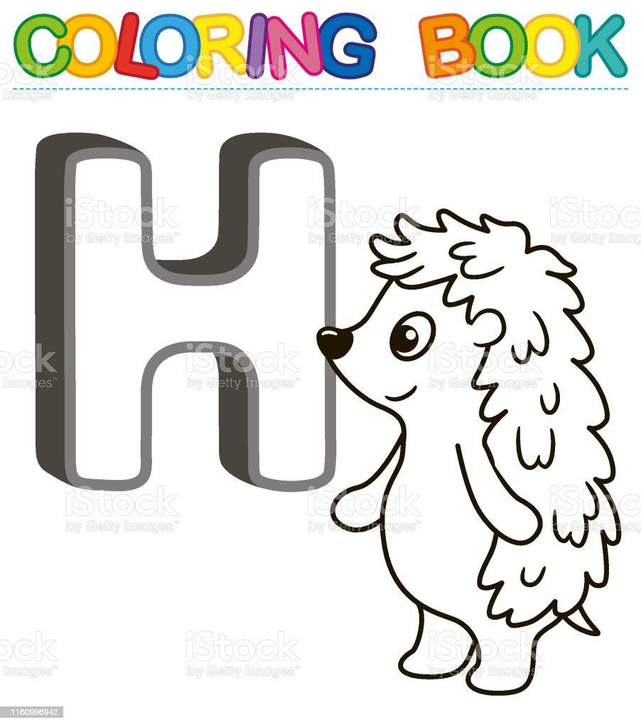 Vector Kleurboek Alfabet Met Hoofdletters Van Het Engels En