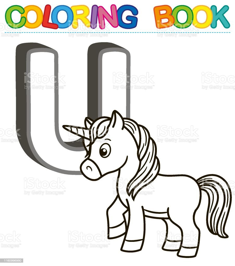 Ilustración De Alfabeto De Libro Para Colorear Vectorial Con Letras