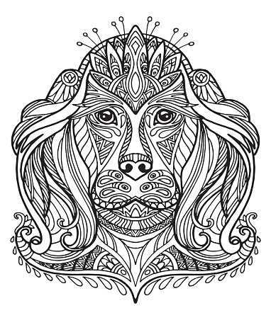 Vector coloring dog