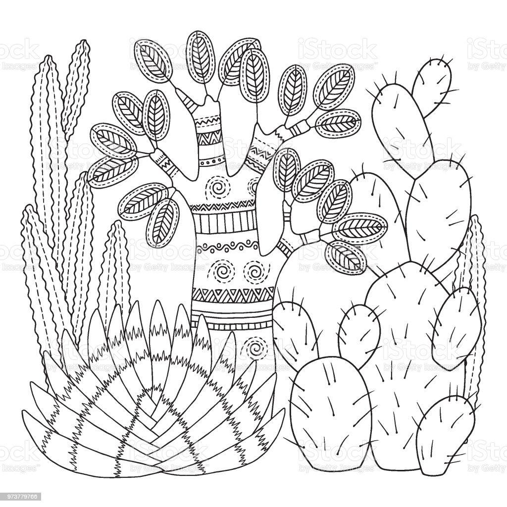 Ilustración De Página Para Colorear De Vector Imagen Lineal