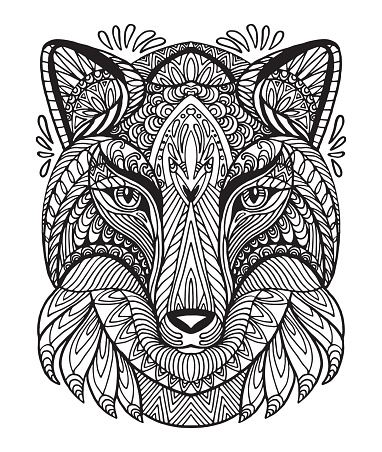 Vector coloring wolf