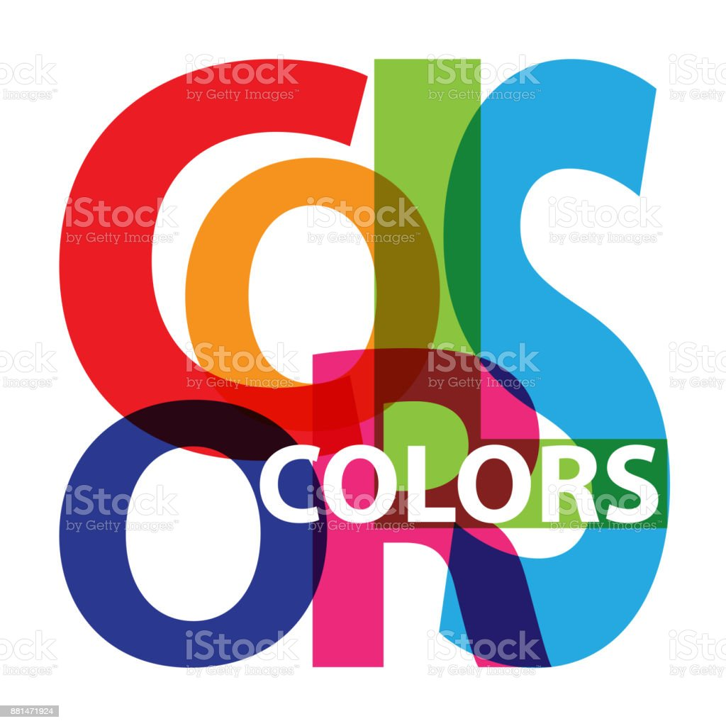 Vector colors. Broken text vector art illustration