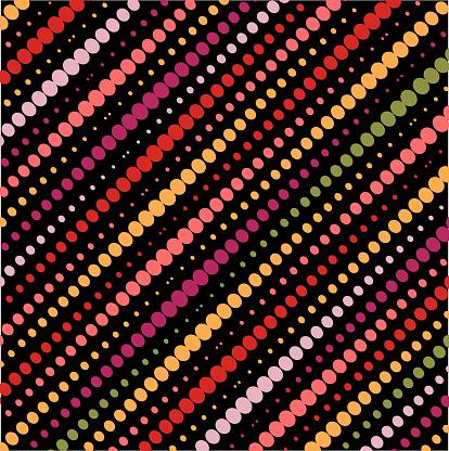 Vector Colors Half Tone Dots Pattern Design Element