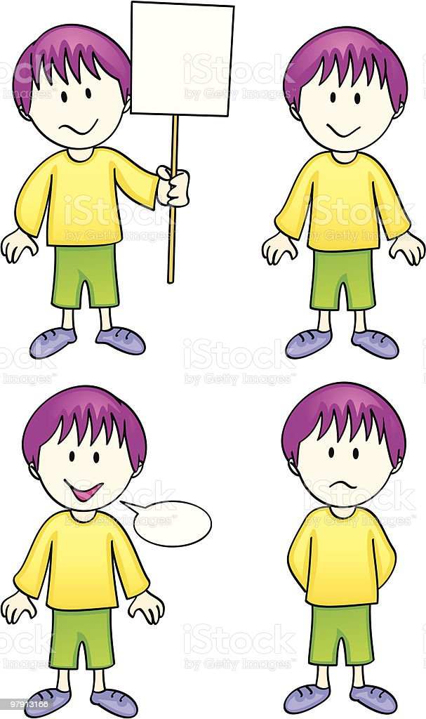 Vector Comic Character - Boy royalty-free vector comic character boy stock vector art & more images of adolescence