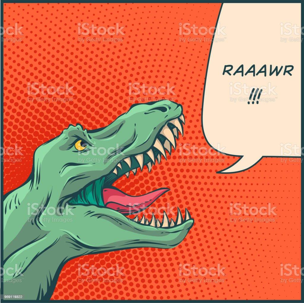 ベクトル漫画の恐竜 ベクターアートイラスト